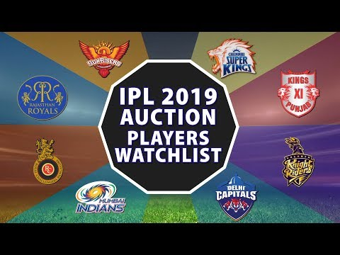 IPL 2019 Auctions: Players Watchlist