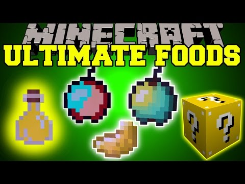 Minecraft: THE ULTIMATE FOOD (CRAZY APPLES, MYSTERY POTIONS, & LUCK!) Mod Showcase