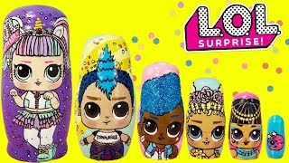 LOL Surprise Series 3 Nesting Dolls, Stacking Cups Toy Surprises Unicorn, Punk Boi