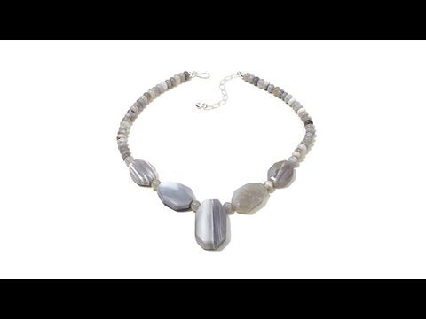 Jay King South African Gray Agate 18 Necklace