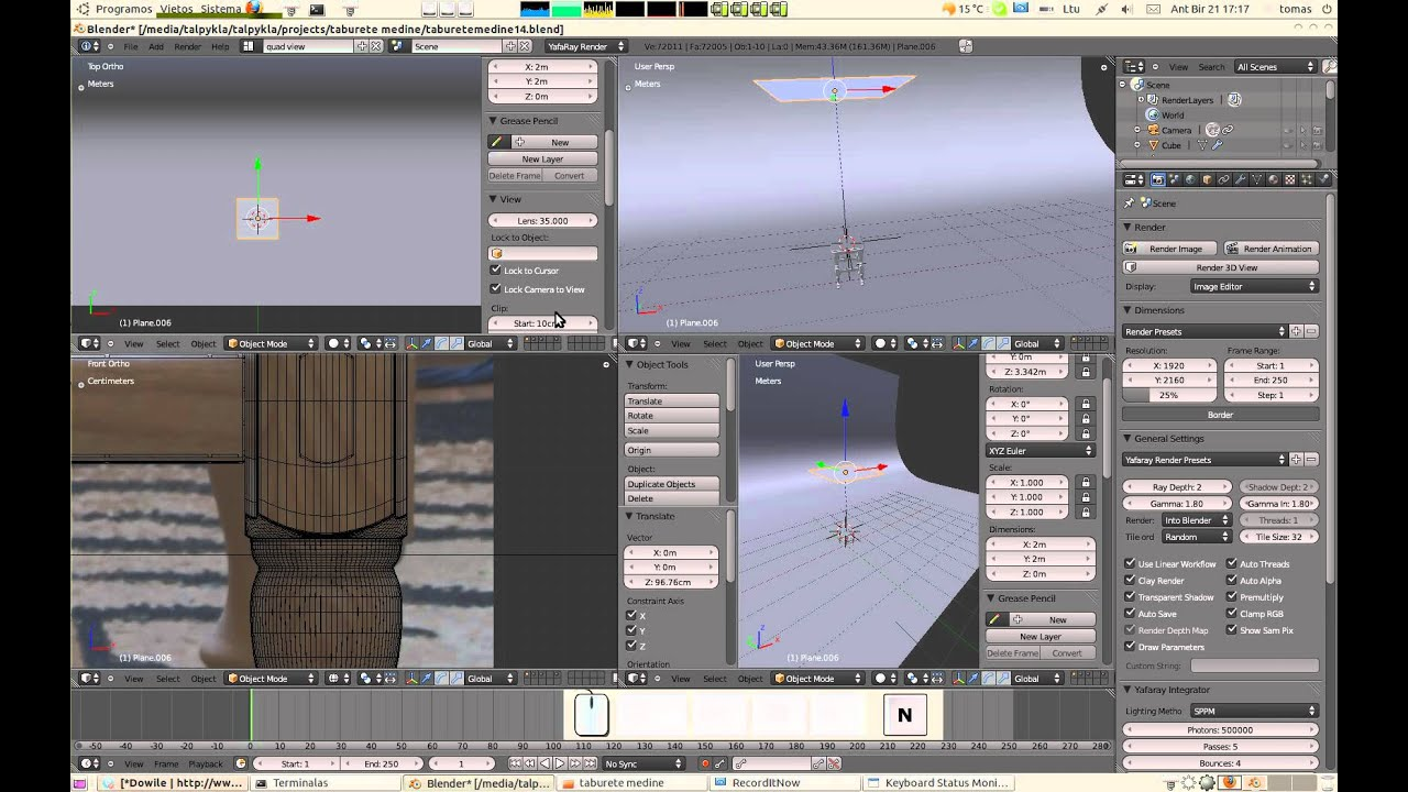 Yafaray works differently on blender 24x