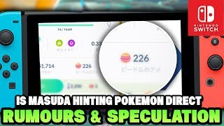 Pokemon Switch 2019 (Generation 8) Rumours & Speculations! Masuda hints and Leaker Predicts Direct!?