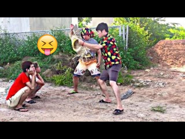 TRY NOT TO LAUGH   Funny Comedy Videos and Best Fails 2019 by SML Troll Ep.51 thumbnail