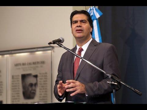 26 de NOV. Jorge Capitanich brindó una conferencia de prensa.
