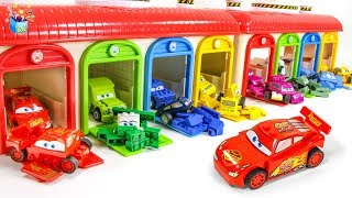 Learning Color Disney Pixar Cars Lightning McQueen garage Lego play video for kids