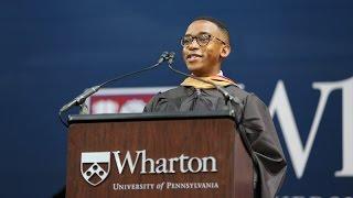 Dante Pearson, Student Speaker | Wharton MBA Graduation 2017