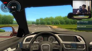 City Car Driving | Mercedes E63 AMG VS Audi S4