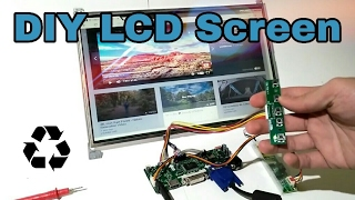 DIY LCD Display | From Recycled Laptop Screen !!!
