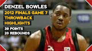 """Denzel Bowles Throwback Performance in Game 7 vs Talk """"N"""" Text 