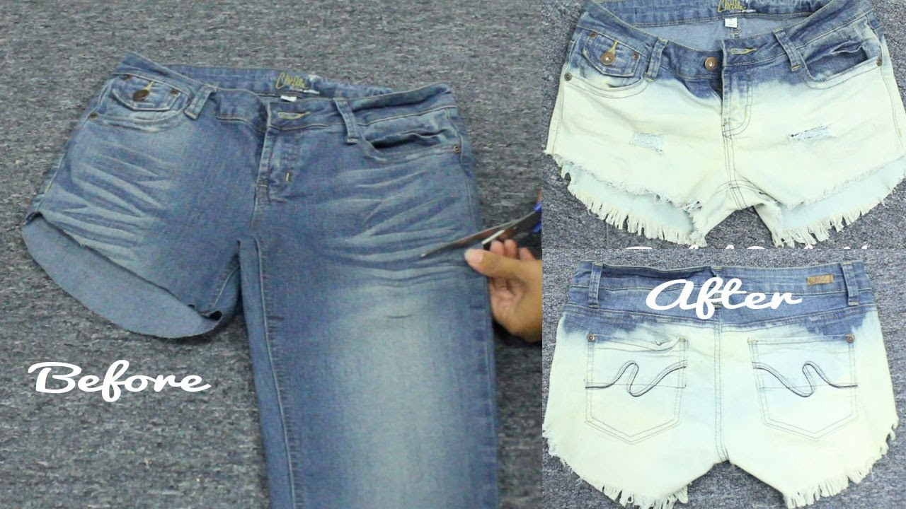 DIY Turn Your Old Pants Into Cool Bleached, Distressed ...