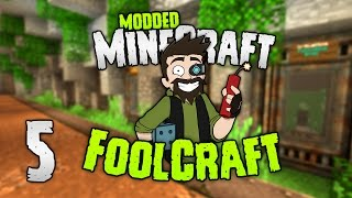 Minecraft: FOOLCRAFT | #5: INDY COW FARM! 💣 [Modded Minecraft]