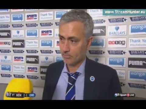 Jose Mourinho Post Match Interview - Newcastle  v Chelsea (2-1)