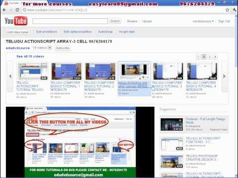 Free Web Design Photoshop Tutorial In Telugu   9676204179 video