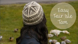 KNITTING TUTORIAL-EASY FAIR ISLE TAM