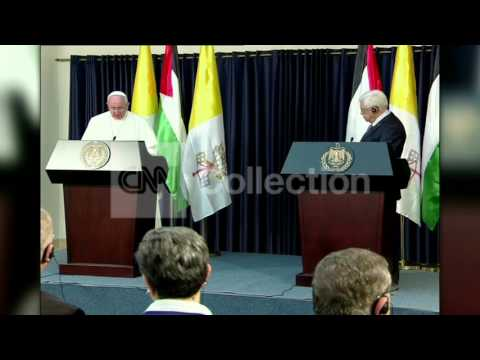MIDEAST: POPE FRANCIS PALESTINE
