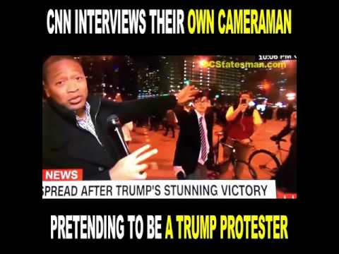 CNN BUSTED Interviewing Their Own Cameraman Pretending To Be A Trump Protester