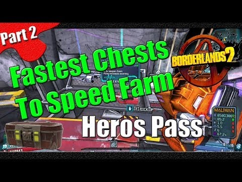 Borderlands 2   Fastest Chests to Speed Farm   Part 2   Heros Pass   Super fast chest