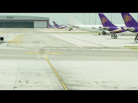 Air Asia A320 Airbus Plane. Stock Footage