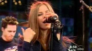 Avril Lavigne - Complicated - Live @ good morning america [08-29-02]