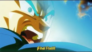Vegeta Utiliza el Super Final Flash Por Primera Vez Contra Jiren