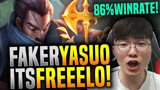 Faker Yasuo is Freelo with 86% Winrate ft. New Keystone! - SKT T1 Faker Picks Yasuo Mid! | SKT T1