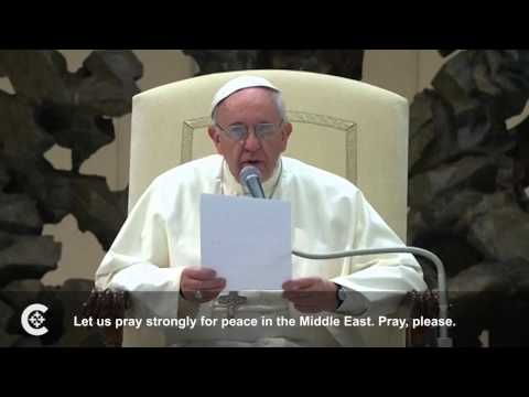 Pope Francis prays for China, Middle East