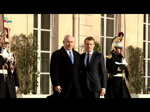 PM Netanyahu Meets French President Macron