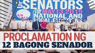 replay proclamation of winning senatorial candidates in the may 13 elections eleksyon2019