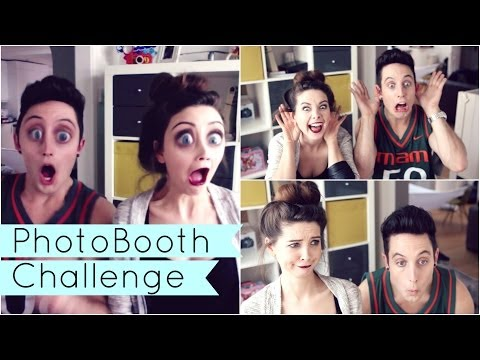 Photo Booth Challenge with Sawyer | Zoella
