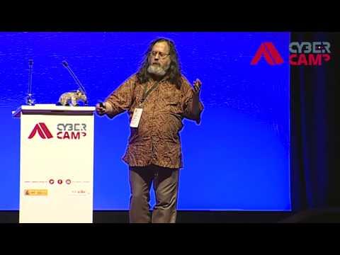Conferencia de Richard Stallman en Cybercamp 2014