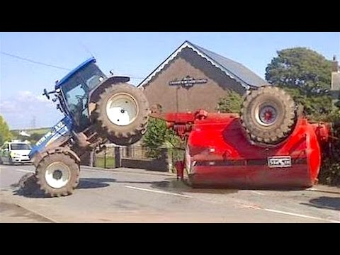 WORLD'S MOST STUPID TRACTOR DRIVERS, CRAZY TRACTOR DRIVING FAILS 2017