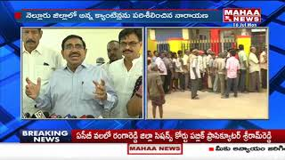 Minister Narayana Inspects 'Anna Canteen' In Nellore District