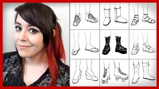 50 Shoe Drawings in Under 90 Seconds