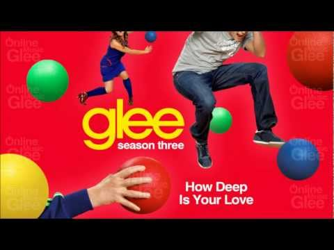 How Deep Is Your Love - Glee [HD Full Studio]