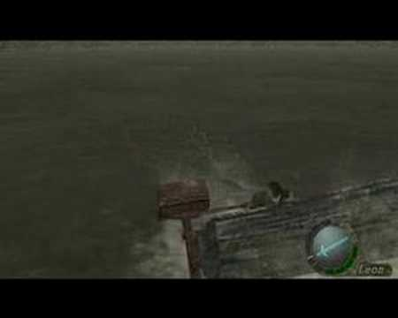 Resident Evil 4 Boss fight BIG FISH