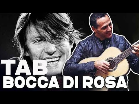BOCCA DI ROSA - FABRIZIO DE ANDRE' - DIVERTIAMOCI CON LA CHITARRA