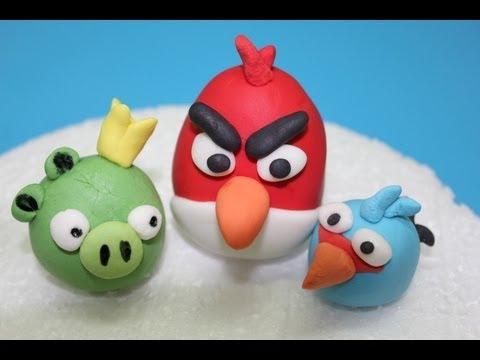 Cómo modelar figuras en fondant: Angry Birds