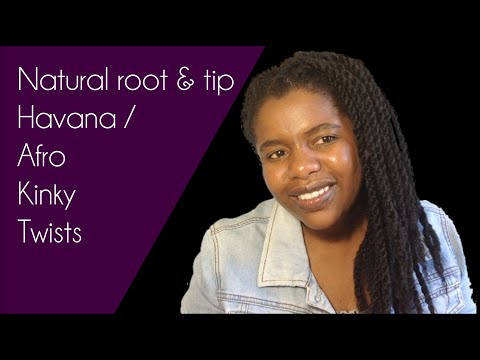 Natural Root & Tip Havana / Afro Kinky Twists
