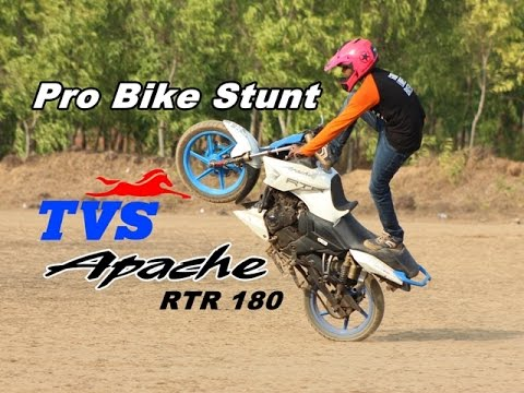 TVS Apache RTR 180 Pro Level Bike stunt - Drift - Stoppies - Wheelies - Burnouts