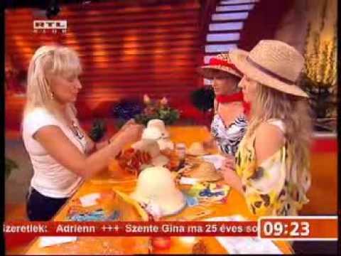 Mezei Katalin szalmakalap dekoraciók
