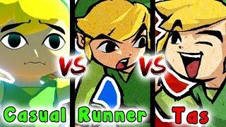 Tas VS Speedrun VS Casual - Deku Leaf Item (Zelda The Wind Waker)