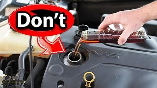 Never Use This Type of Engine Oil Additive in Your Car