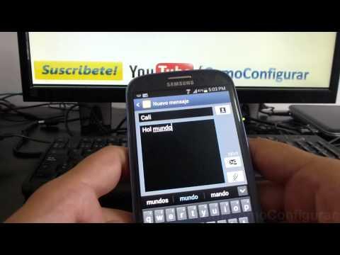 como enviar un mensaje de texto android samsung galaxy s3 español