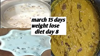 March 15 days weight lose diet, egg diet, low carb diet, day 8