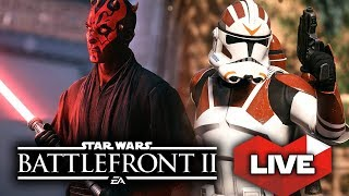 Star Wars Battlefront 2 LIVE! Beta Extended for Two More Days! Epic Clone Wars Gameplay!