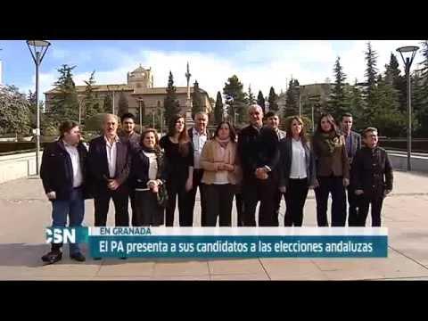 Antonio Jesús Ruiz en la presentación de la candidatura del PA en Granada