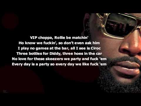 Rick Ross Feat. Future no Games (lyrics Video) video