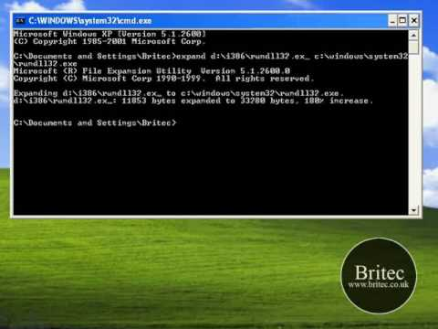 How to Restore. Fix. Replace Rundll32.exe for Windows XP by Britec