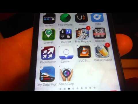 Como Desinstalar Borrar Aplicaciones apps en iPhone 5 iPhone 4S iPhone 4 iPhone 3GS. iPad iPod