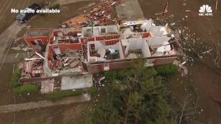 Drone Footage Shows Aftermath of Deadly Storm in Albany, Georgia